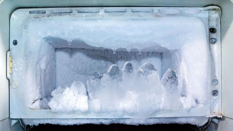 برفک یخچال دلیل صدای یخچال