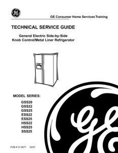 دانلود دفترچه راهنمای یخچال جنرال الکتریک