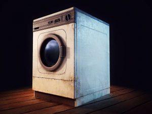 نیم سوز شدن موتور لباسشویی
